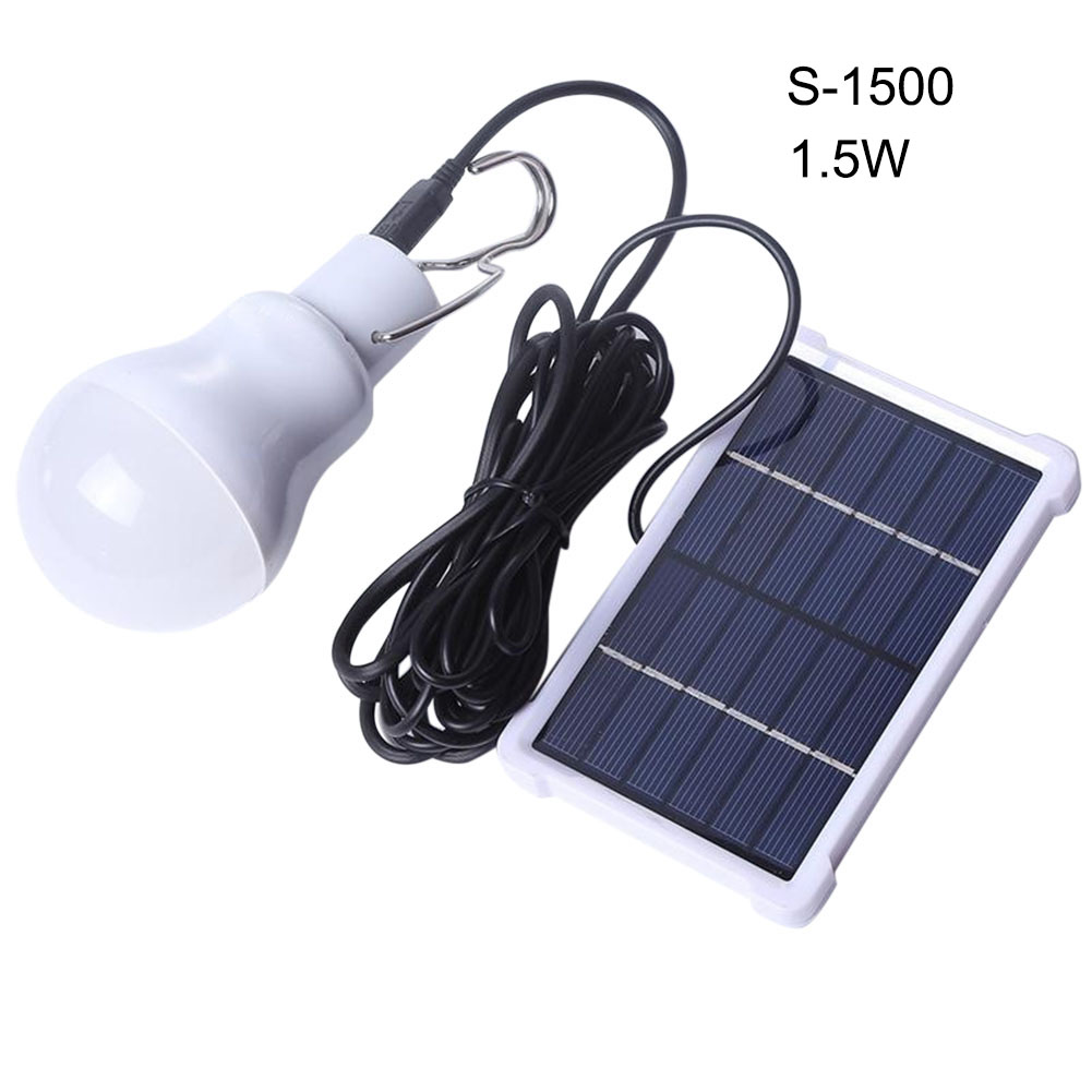110 LM Portable Solar Light Bulb Rechargeable Hanging Lamp Home ...