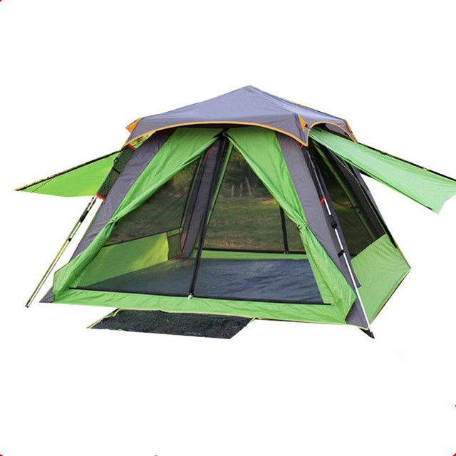 Wnnideo 3-4 Person Outdoor Screen Tent Automatic Three Double Layer C&ing Traveling Mountaineering Tent Waterproof Portable  sc 1 st  AliExpress.com & Wnnideo 3 4 Person Outdoor Screen Tent Automatic Three Double Layer ...