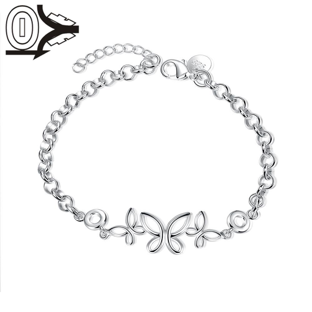 Free Shipping Silver Plated Bracelet,Latest Women Classy Design,Korea Three Hollow Butte ...
