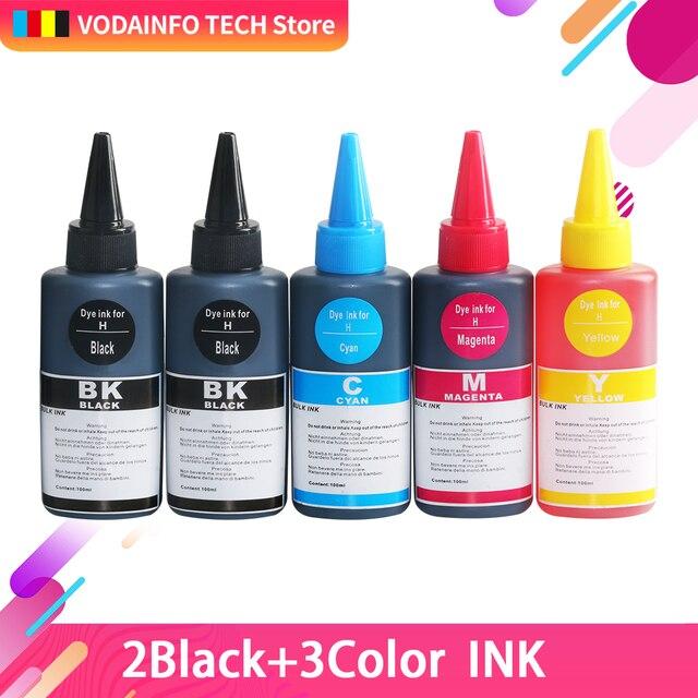 5x 100ml Refill Ink Kit Kits For HP 655 HP655 655XL HP655XL For HP Deskjetjet 3525 4615 4625 5525 6525 Refillable Inkjet Printer