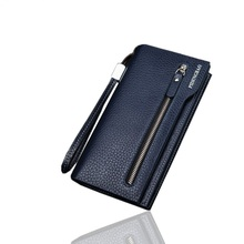 New fashion multifunctional Casual Leather Men Wallets Coin Purse Brand Business Men s Long Zipper Wallet