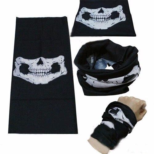 500 pièces Halloween crâne squelette fête masques noir moto Multi fonction chapeaux chapeau écharpe cou Sport visage hiver Ski masque