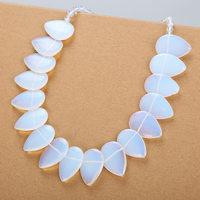 Crystal Jade Big Necklace Women Opal Leaf Pendant Flower Natural Stone Female Reiki Jewelry Kettingen Voor Vrouwen Bayan Kolye