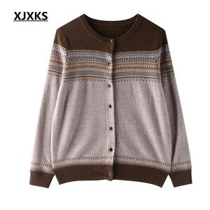 Image 3 - XJXKS pull over, printemps, Cardigan pour femme, manteau, veste tricotée, pull doux et confortable, nouvelle collection 2019