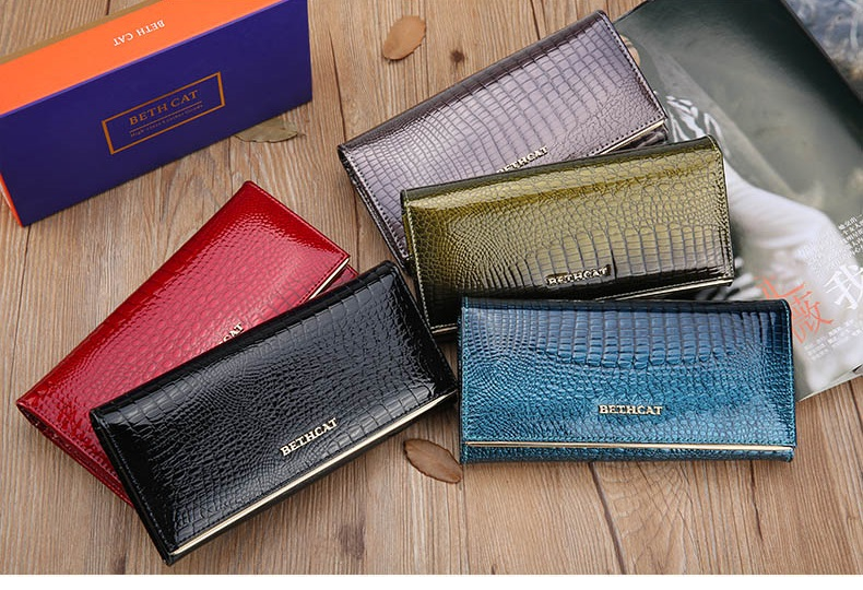 Women Wallets Brand Design High Quality Leather Wallet Female Hasp Fashion Dollar Price Alligator Long Women Wallets And Purses9