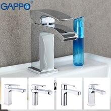 GAPPO kran z mieszaczem wody bateria umywalkowa kran umywalka łazienkowa bateria kranowa pojedynczy otwór mosiężny kran wodospad umywalka zawory mieszające