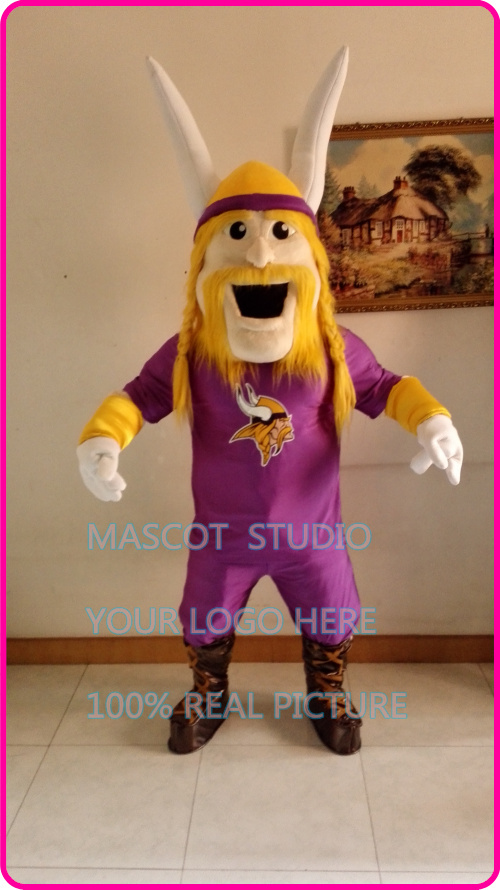 Púrpura Viking Mascotas traje de fantasía personalizado anime Cosplay kits Mascotas te disfraz de Carnaval