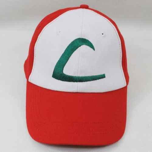 8f345869b281e Pokemon ACG 1st.Satoshi Ash Ketchum Costume Outfit Baseball Cap Hat Cosplay  Prop