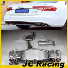 2013 Wholesale A4 S4 Stainless Steel Car Mufflers ,Auto Car PP Rear Diffuser For Audi (Fits for Audi A4 2013 )
