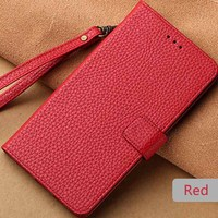 wangcangli for sony genuine Leather phone case Cover Mobile Leather Wallet Stand more black coffee Pink Flip cover phone case