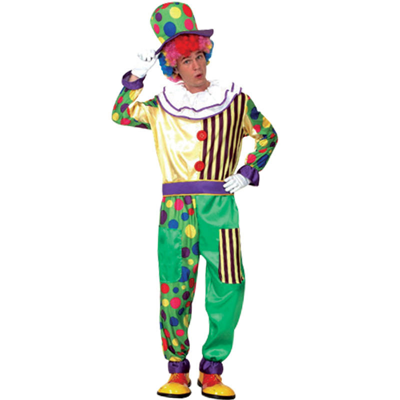 Free shipping Halloween costume masquerade magician clown clothes suit clown costume stage costumes for adults