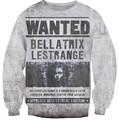 New Fashion Harry  Bellatrix Lestrange Crewneck Sweatshirt women/men harajuku vintage witch print 3d hoodies sweats jumper