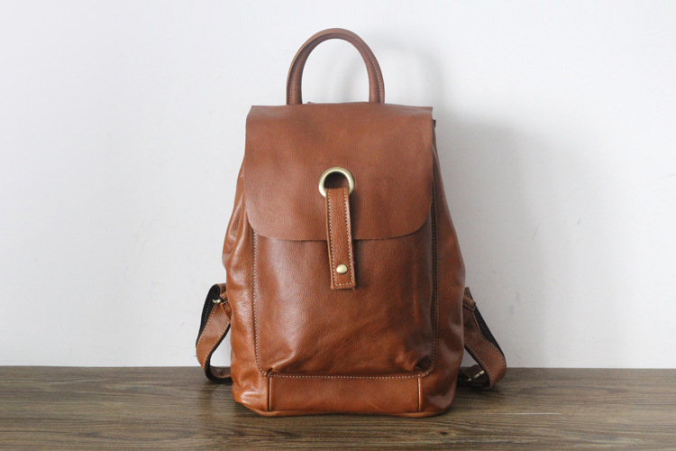 Genuine leather women casual backpack cow skin large capacity school bagGenuine leather women casual backpack cow skin large capacity school bag