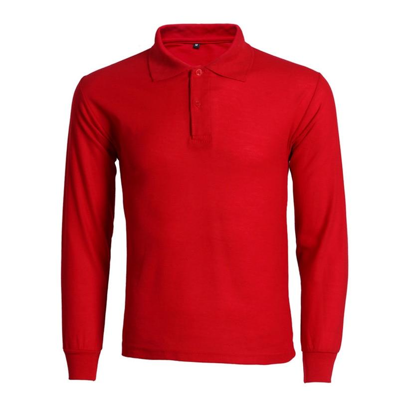 Fashion Polo Shirt Men Camisa Polo Masculina 2017 Brand New Mens Slim Fit Long Sleeve Polo Shirts Casual Cotton Polos Hombre 3XL