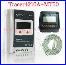 Neue Ankunft MPPT 40A Solarladeregler 12 V 24 V mit MT50 Diaplay TRACER Solarladeregler Tracer4210A