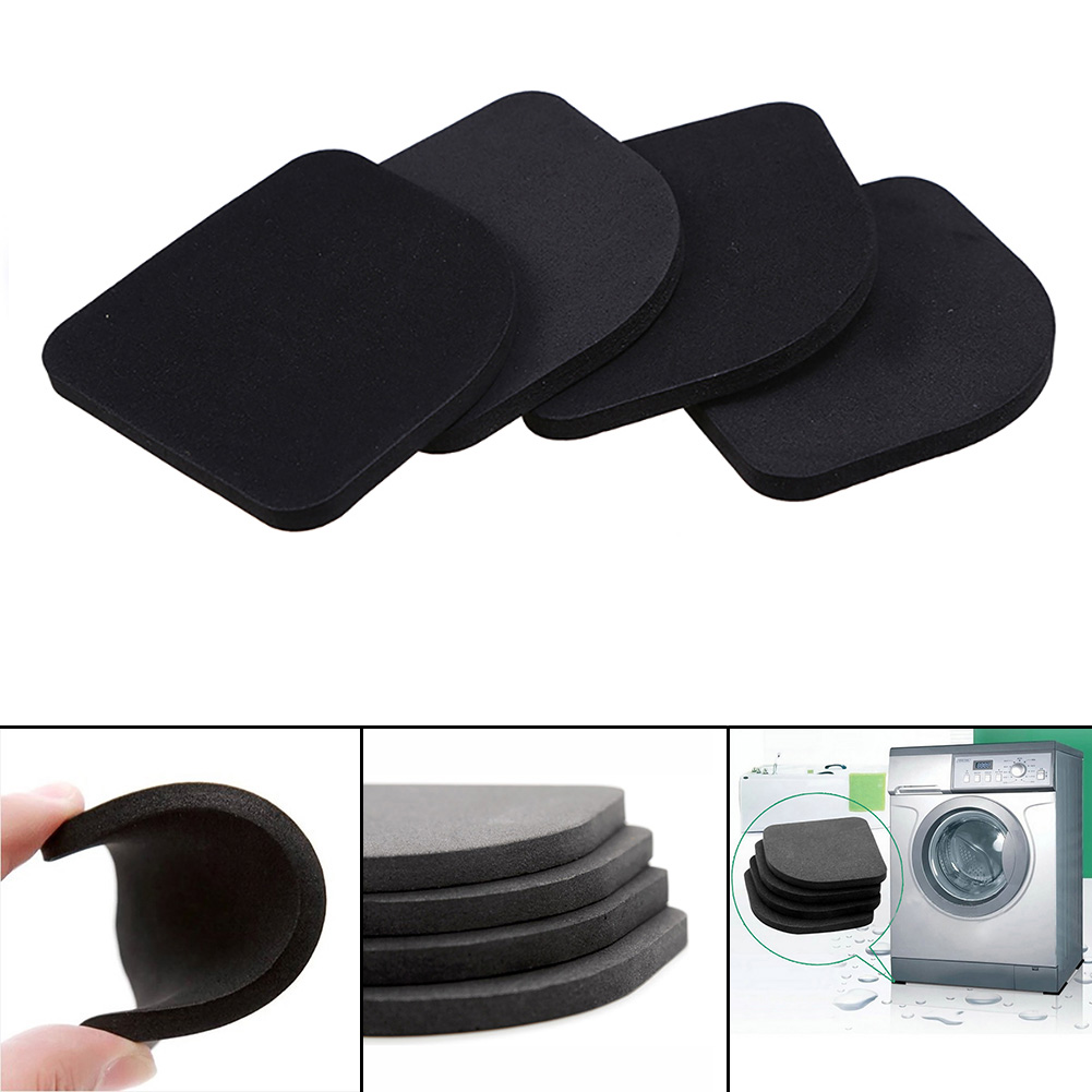 4pcs Stand For A Washing Machine Shock Pads Anti-vibration Pad For Washing Machine Non-slip Mats Refrigerator Multifunctional To Reduce Body Weight And Prolong Life Bath & Shower