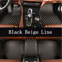 High Quality Car Accessories Styling Custom Foot Mats 3D Luxury Leather Car Floor Mats For Nissan Patrol Y62 7 Seats 2010 2019