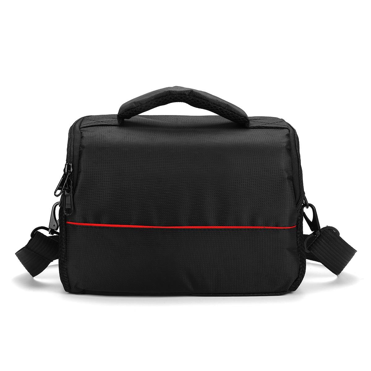 Shockproof DSLR Camera Shoulder Case Bag Black Nylon Hand Carry Adjustable Spacious Inner Two Inside Pockets Protect Damaged