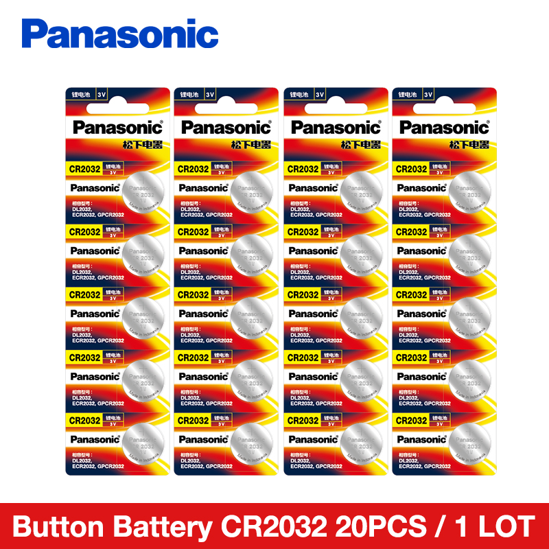 <font><b>Panasonic</b></font> 20PCS/LOT cr2032 Button Cell Batteries 3v Lithium Battery For Watch Car Calculator Coin Battery cr <font><b>2032</b></font> image