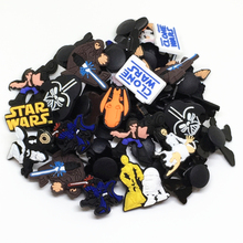 Wholesale 50pcs Random Mixed Star Wars Shoe Decoration Shoe Charms fit Children Croc shoes Accessories Birthday Party Gifts