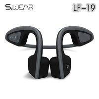 New LF-19 Thông Minh Không Dây Bone Conduction Bluetooth Headphone Không Thấm Nước Tai Nghe Stereo Thể Thao Tiếng Ồn Noise Cancelling Tai Nghe