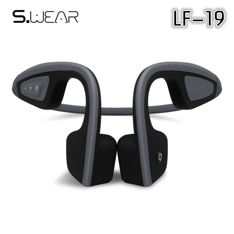 Nouveau LF-19 Intelligent Sans Fil Conduction Osseuse Bluetooth Casque Étanche Sport Stéréo Casque Antibruit Écouteurs