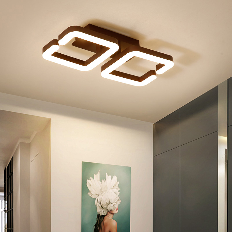Brown Modern Led Ceiling Chandelier Lamp Lampara de techo Chandelier led For Bedroom Balcony, aisle lustre cristal lampadarioBrown Modern Led Ceiling Chandelier Lamp Lampara de techo Chandelier led For Bedroom Balcony, aisle lustre cristal lampadario