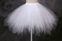 Summer Cheap Short Mini Petticoat Crinoline White Pink Black Blue Wedding Accessories Petticoats for Wedding Gowns