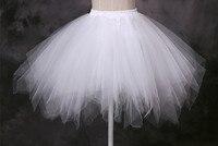 Summer Cheap Short Mini Petticoat Crinoline White Pink Black Blue Wedding Accessories Petticoats For Wedding Gowns