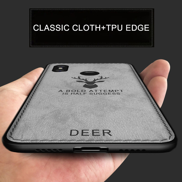 new style b138c 2483f US $2.99 40% OFF XiaoMi Redmi Note 5 case cover Redmi Note5 Pro back cover  deer pattern fabric shockproof case Redmi Note 5 Pro Global Version-in ...