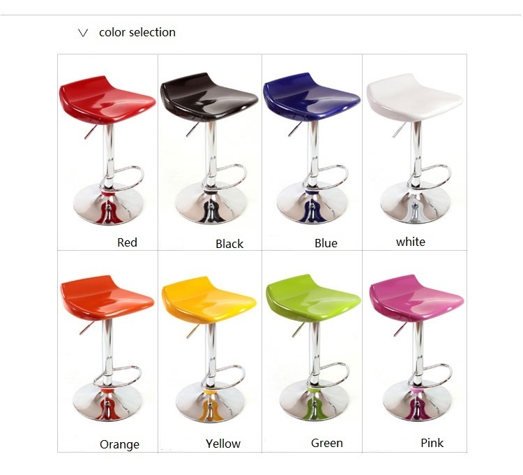 travel agency Registration Desk Chair purple yellow green pink black lift stool retail and wholesale new chair design