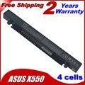 4 células bateria do portátil para Asus R409V R510C R510D R510E R510L R510V X450C X450C X450L X450V X452C X452E X550C X550CA X550CA