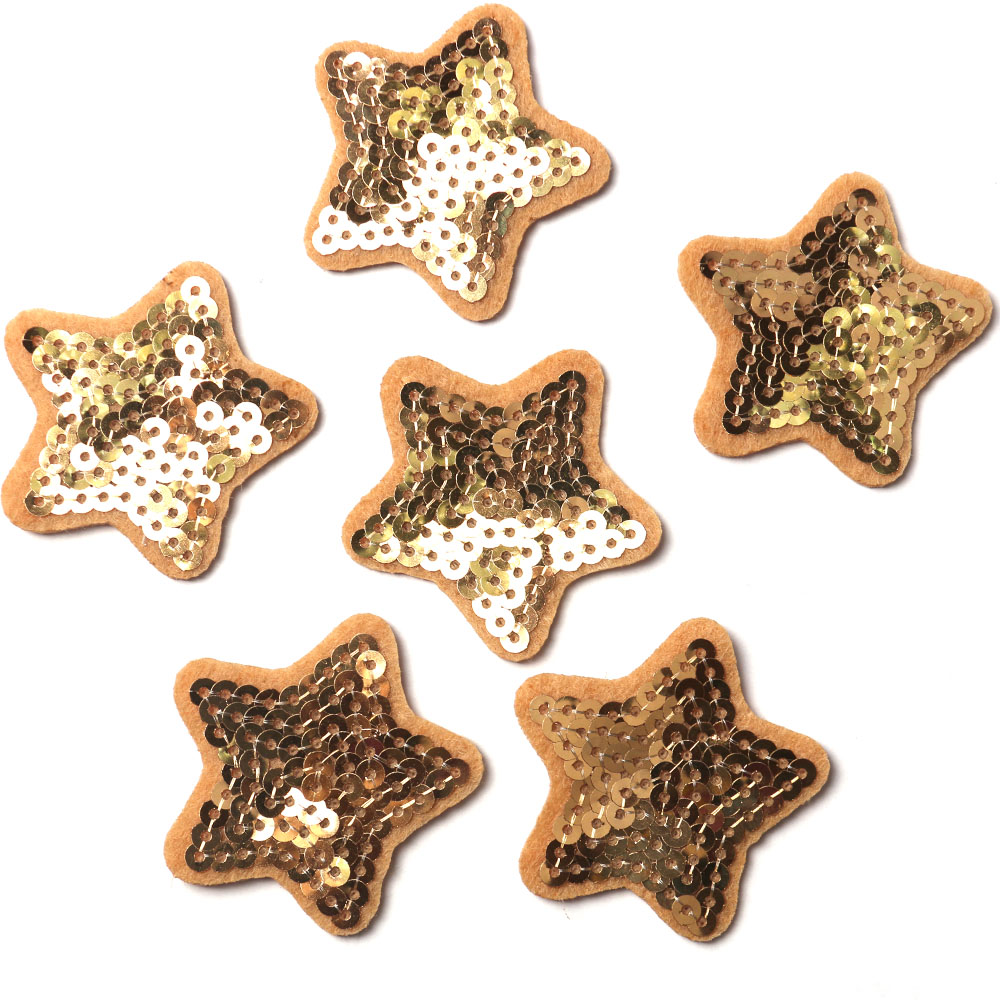 Buy Cheap Bling Sequined Five Stars Diy Accessory Sequins Applique Patches For Clothing Iron-on Cloth Bag Dress Stickers Decoration Etc.