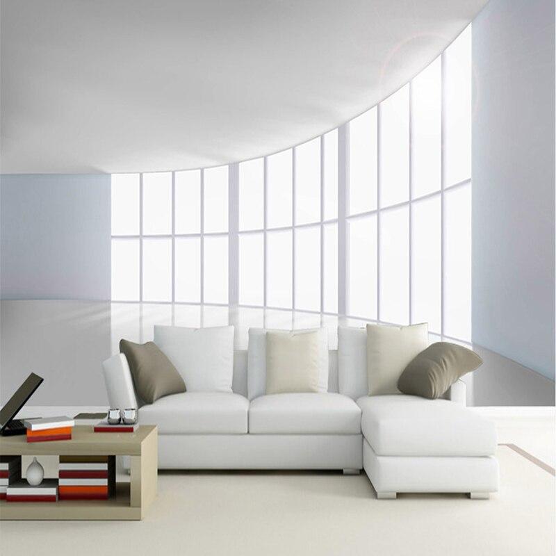 moderne minimalistischen r umliche expansion 3d wandbild tapete b ro wohnzimmer abstrakte kunst. Black Bedroom Furniture Sets. Home Design Ideas