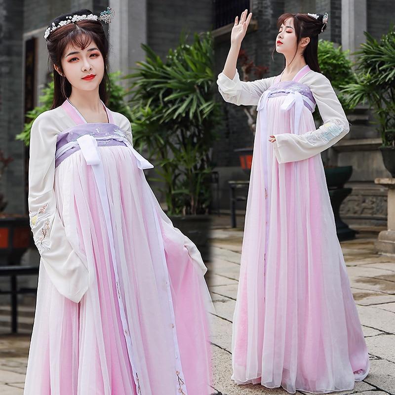 Chinese Traditional Women Hanfu Dress Fairy Princess Dresses Hanfu Folk Dance Clothing Tang Dynasty Ancient Costume Chinese Folk Dance Aliexpress