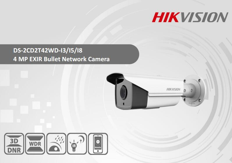 Free Shipping HIKVISION DS-2CD2T42WD-I5 4MP EXIR Network Bullet Camera H.264+ IP67 CCTV  ...