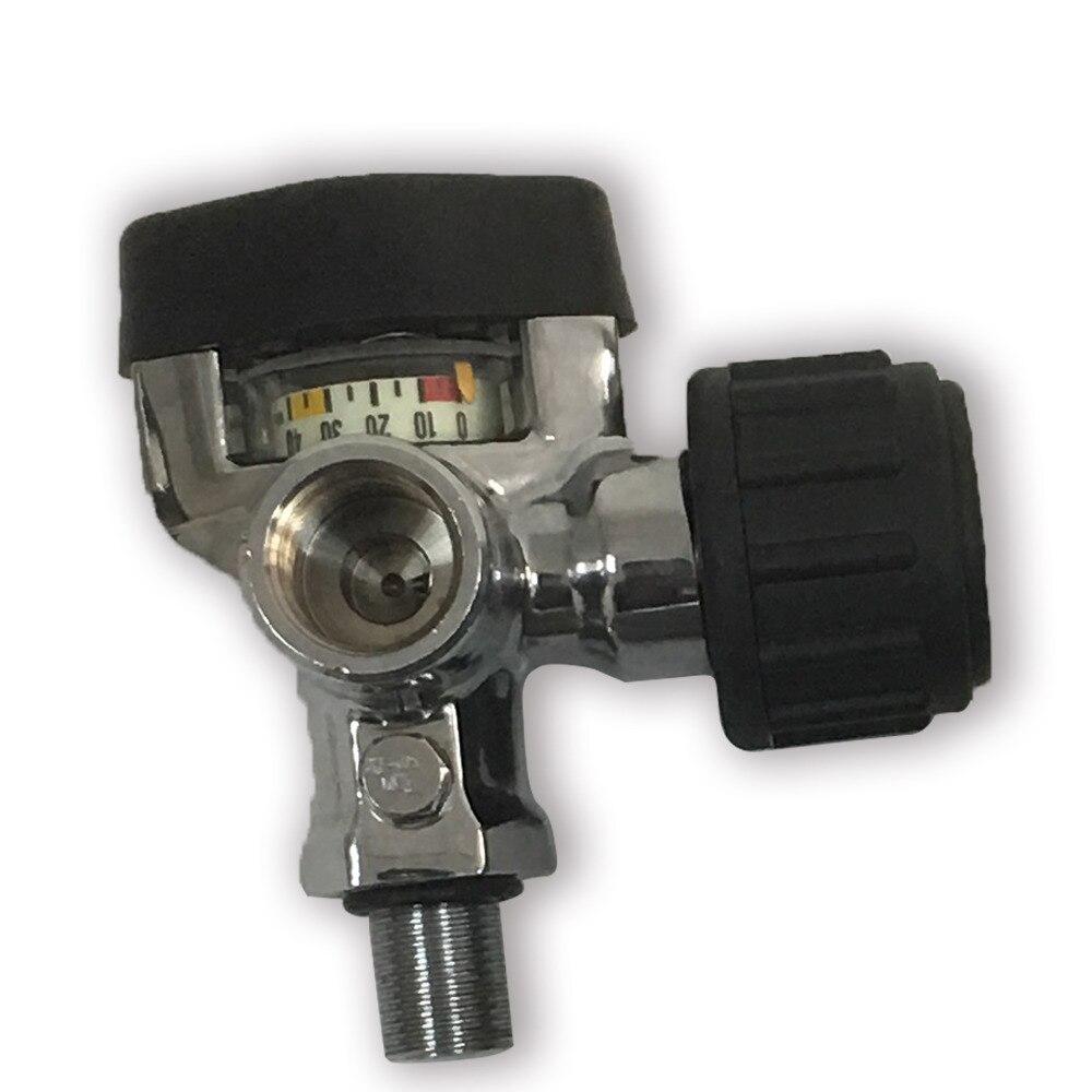 AC921 Promotion Hot Carbon Fiber Cylinder Parts On/off Compressed Air Valve High Pressure 4500Psi Paintball Tank Gauged Valve
