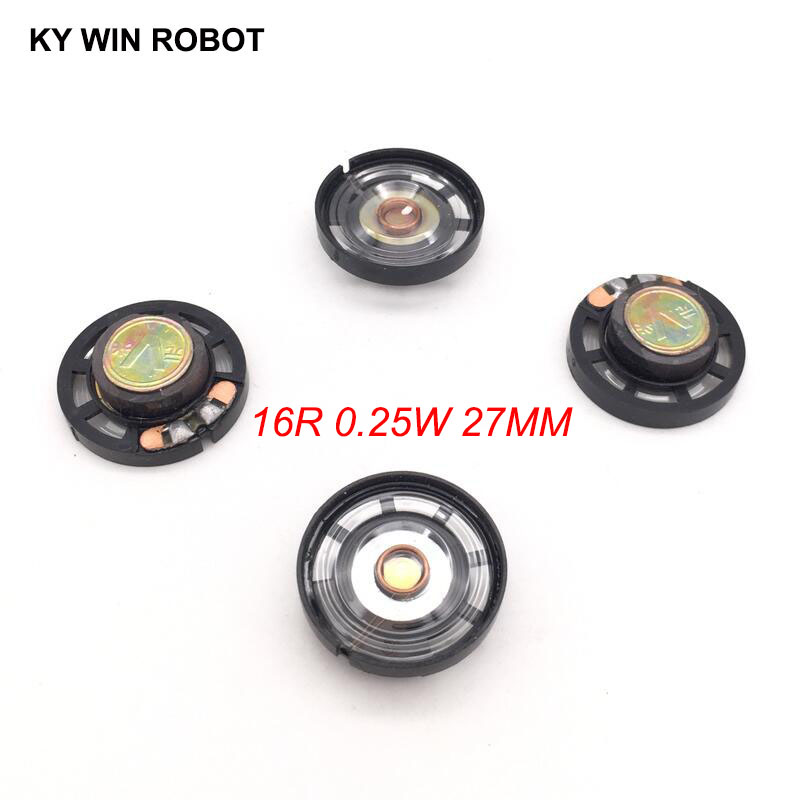 Passive Components Diligent 5pcs/lot New Ultra-thin Speaker Doorbell Horn Toy-car Horn 16 Ohms 0.25 Watt 0.25w 16r Speaker Diameter 27mm 2.7cm Thickness 9mm Finely Processed
