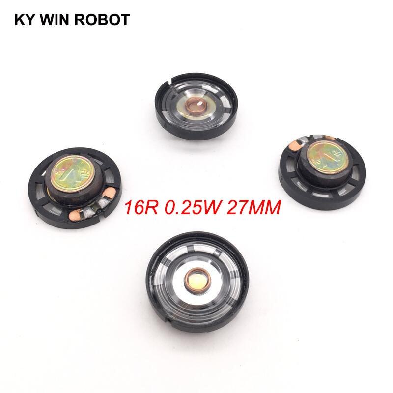 5pcs/lot New Ultra-thin Speaker Doorbell Horn Toy-car Horn 16 Ohms 0.25 Watt 0.25W 16R Speaker Diameter 27MM 2.7CM Thickness 9MM