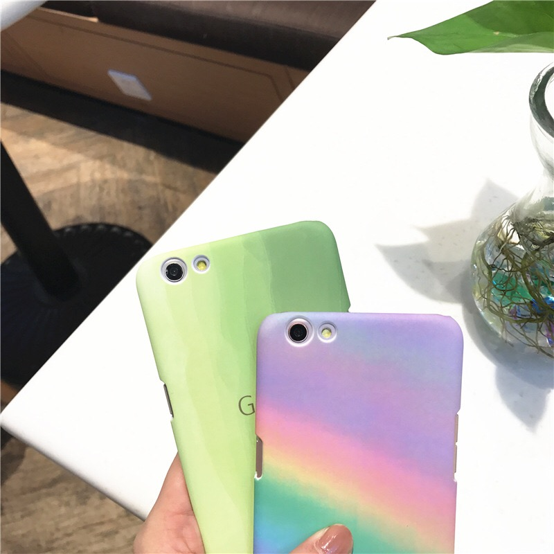 online store d750d 12645 Rainbow Marble Case For Oppo A77 Back Covers For Oppo A57 R9 R9S ...