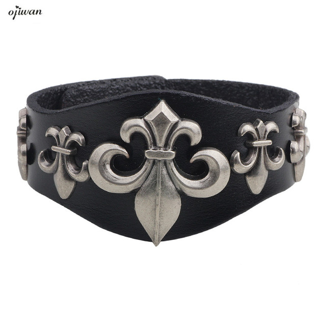 Leather Cuff Bracelet For Men Punk S Jewelry Armband