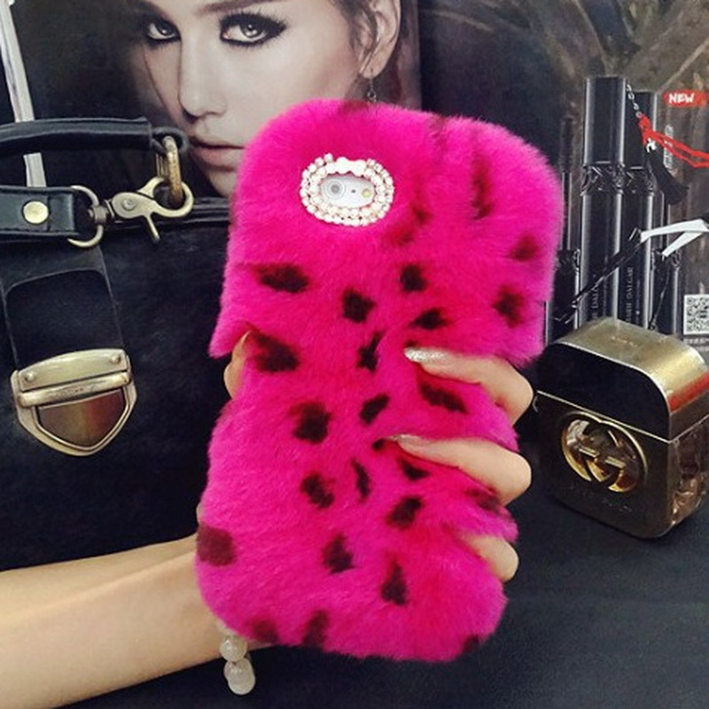 Case For Xiaomi Mi6 Winter Warm Fluffy Villi Fur Plush Wool Bling Coque Funda Carcasa Capa