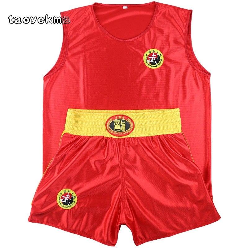 Sanda Sets Kongfu Wushu Suit Muay Thai Boxeo MMA Clothes Taekwondo Boxing  Clothes Sets Shorts+Jersey Martial Arts Kid&Adult T18