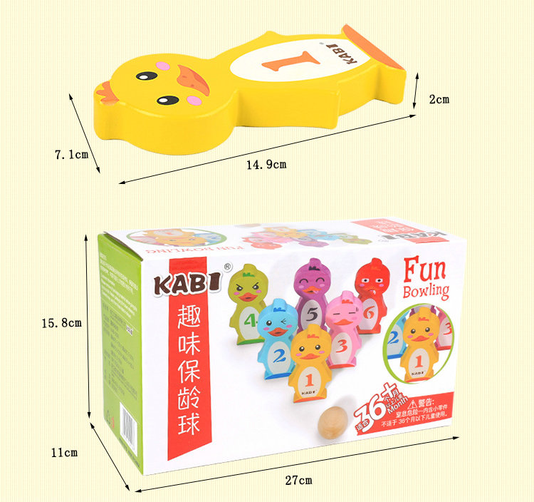 Free shipping Kids Cartoon animal Fun bowling game Intelligent parent child interaction enlightening classic wooden indoor games in Toy Sports from Toys Hobbies