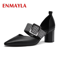 ENMAYLA Pointed Toe Slip On Womens Shoes Pumps Pumps Italian Shoe and Bag Set for Party In Women Size 34 39 ZYL1990