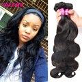 Mink Raw Indiano Cabelo Weave 4 Bundles Yaeons Produtos para o Cabelo indiano Onda Do Corpo Do Cabelo Virgem 7A Não Transformados Humano Indiano Virgem cabelo