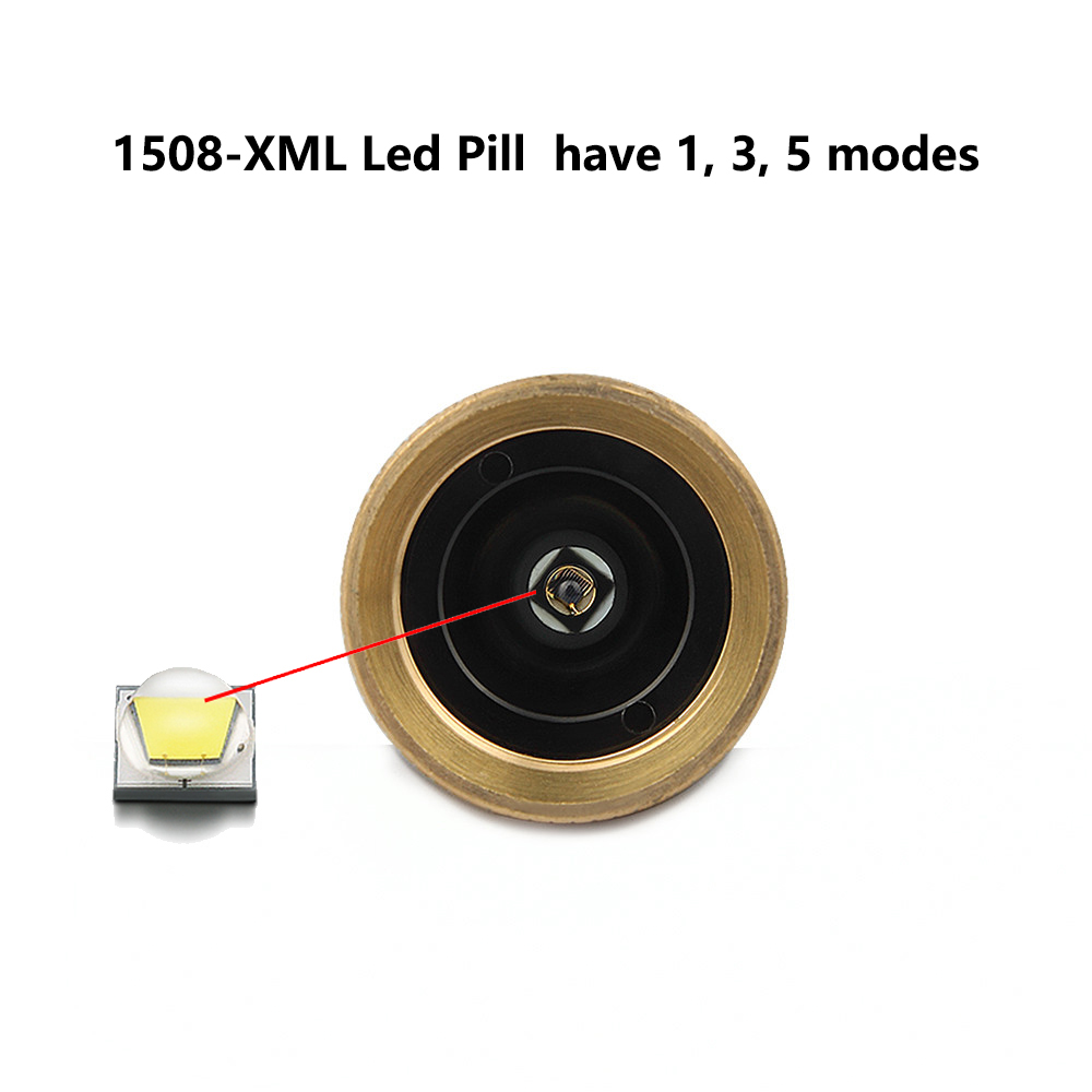 Uniquefire 1508 Cree XM-L LED Lamp Holder Drop in Led Pill Lamp Holder Driver 5 Mode For UF-1508 LED Flashlight torch