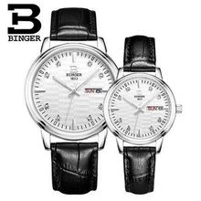 Brand Binger Lover's watch Quartz watches men watches crystal Top Brand Luxury Design vintage relogio masculino Genuine Gift