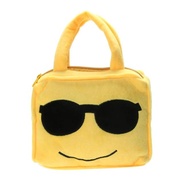 Fashion Emoji Face Expression Plush Bags Children Stuffed Backpacks School Bags Kids Handbag Toys for Children Toys Bags