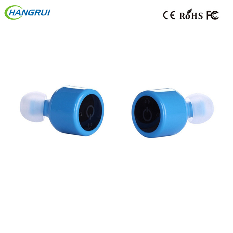 HANGRUI X1T X2T bluetooth earphone wireless Headset Voice Prompt Handsfree True Wireless Earbuds For iphone 7 xiaomi Smartphone portable wireless bluetooth earphone handsfree mini headset stereo earbuds usb docking car charger for iphone smartphone 2 in 1